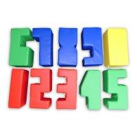 Sitz- und Spielbausteine Zahlen 10-teilig 50 cm