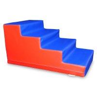 Treppe 4 Stufen Ballbadtreppe mit Antirutschboden