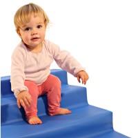 Krabbellandschaft-Treppe mit 2 Stufen Antirutschboden